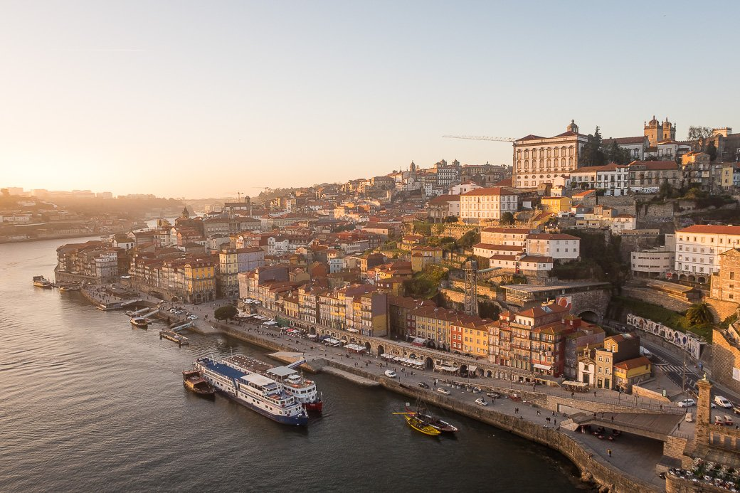 Golden hour à Porto