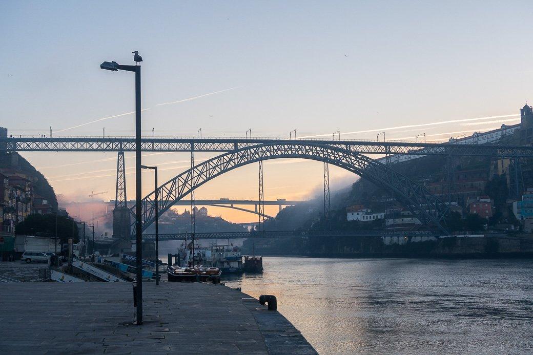 Pont Dom Luis lever du soleil