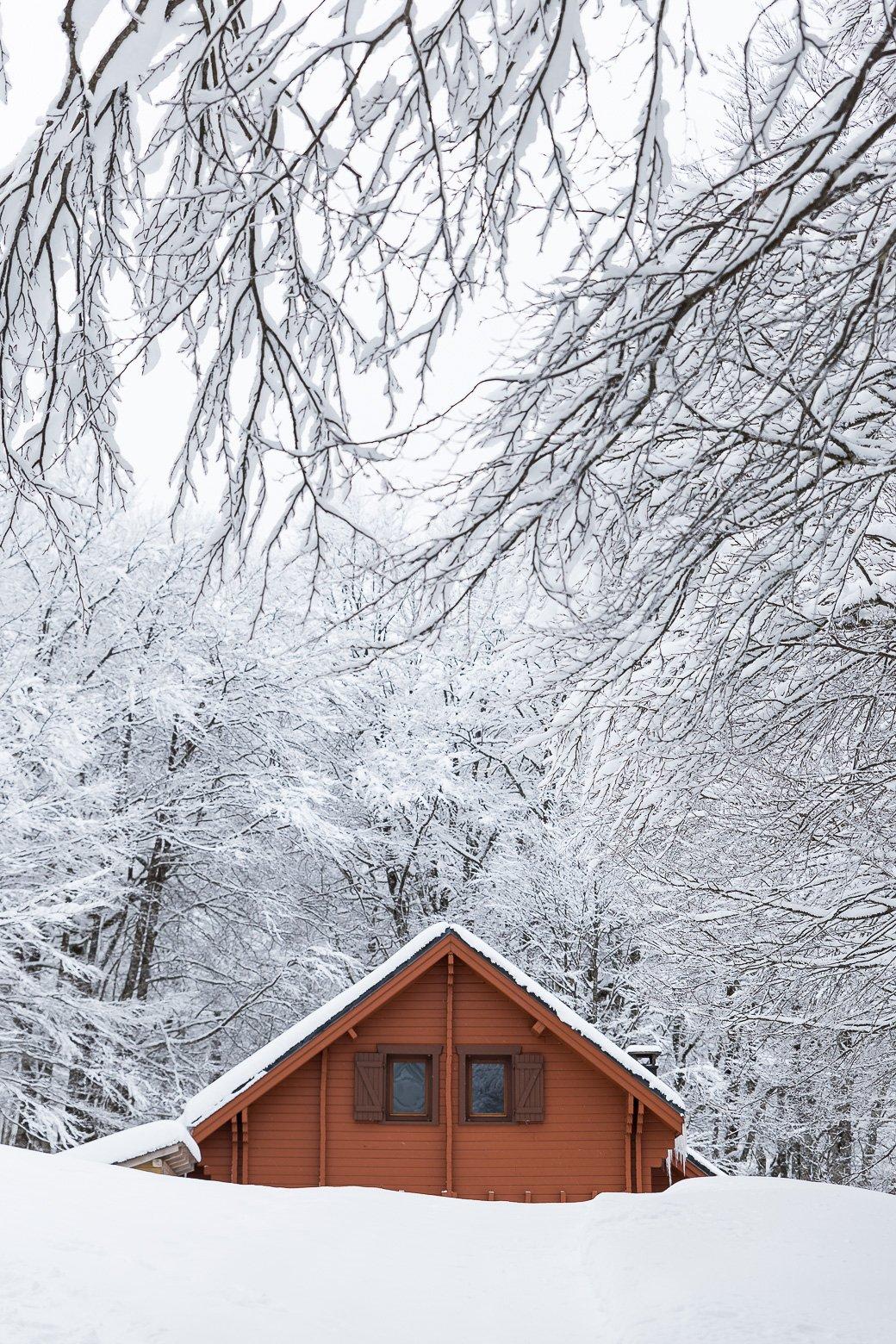 Chalets d'Iraty sous la neige