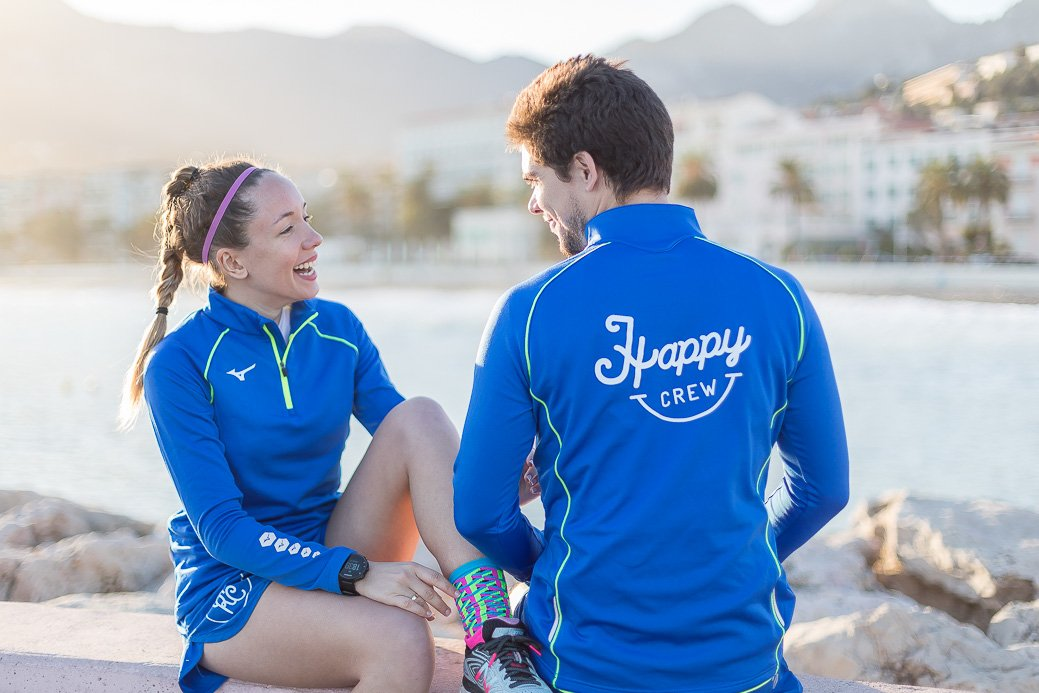 happy running crew x mizuno