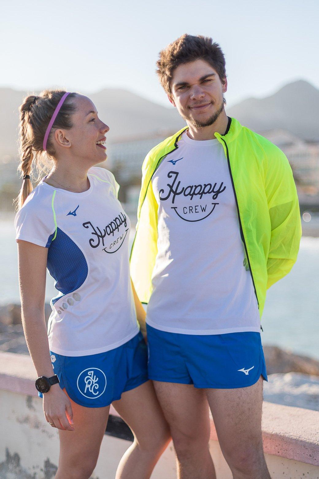 happy running crew x mizuno