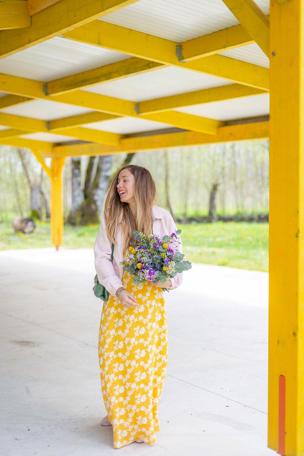 blog mode robe jaune