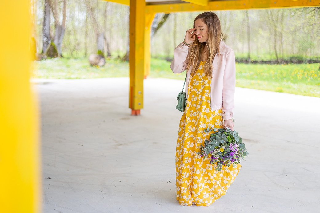 blog mode robe jaune