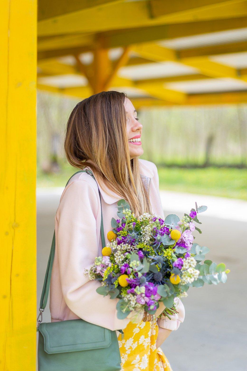 blogueuse mode bouquet fleurs