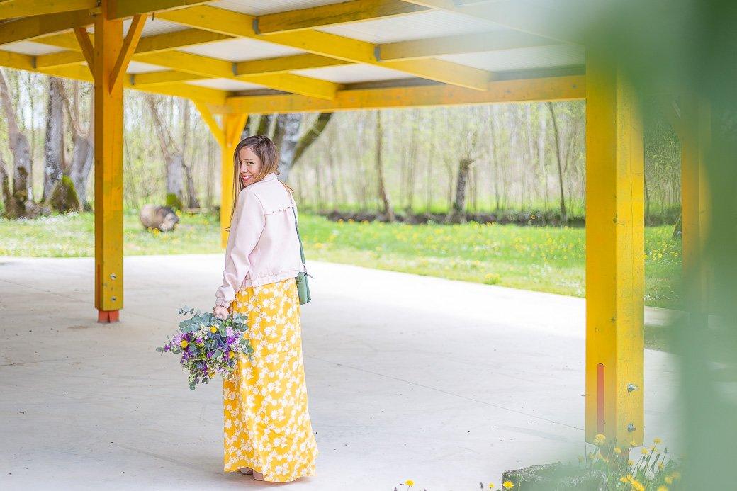 tenue printemps fleurs