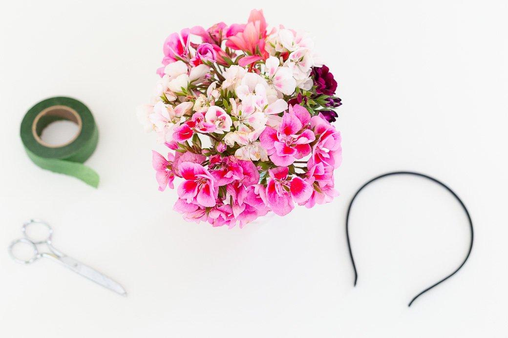 DIY Headband Fleurs fraîches