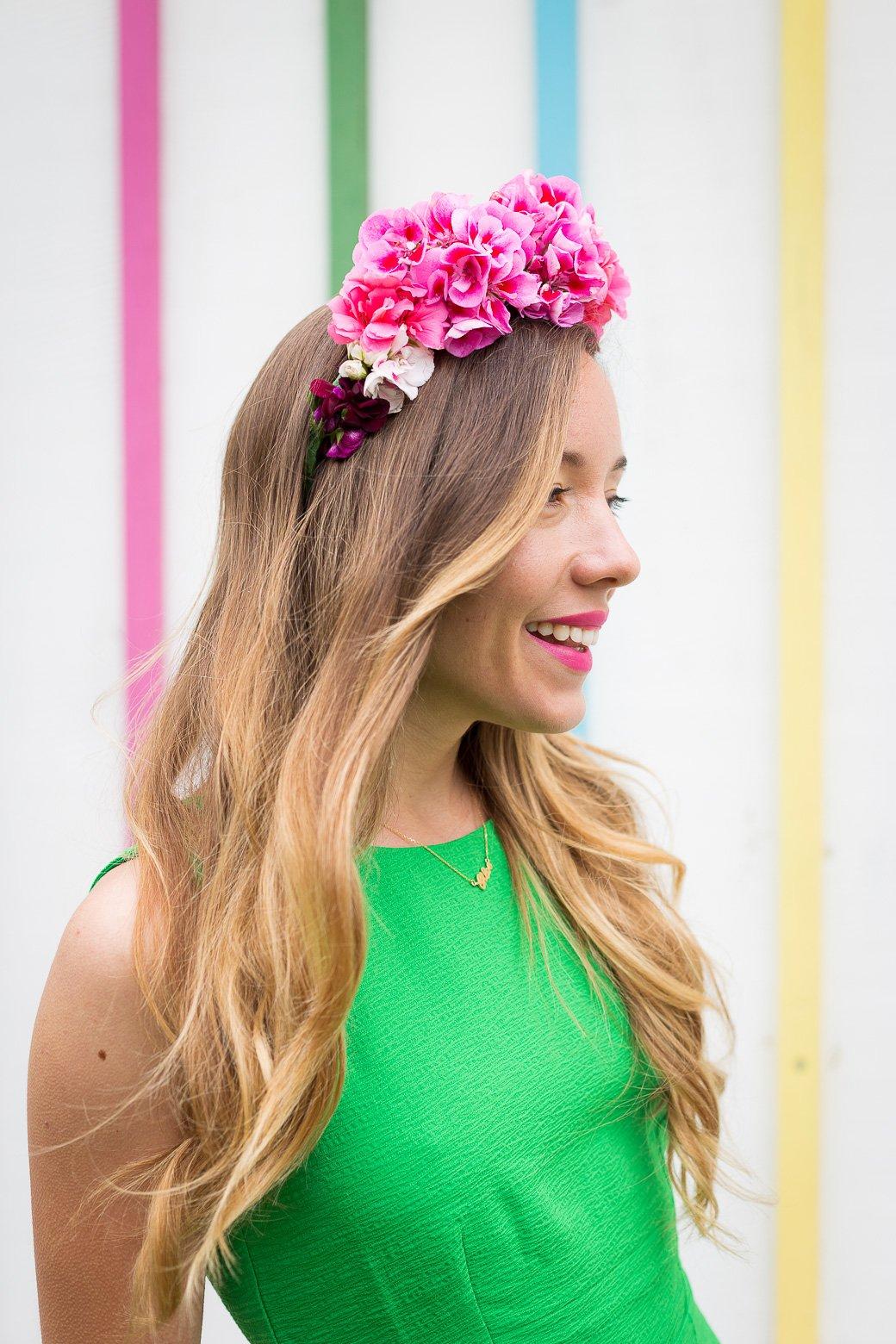 Comment porter headband fleurs