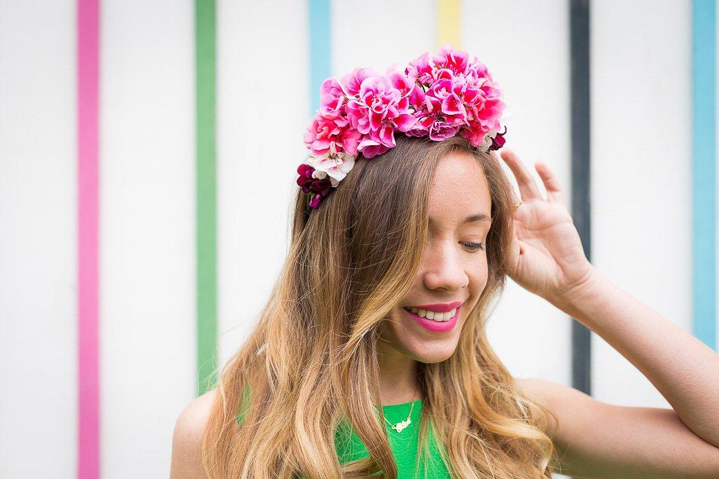 coiffure fleurs fraiches