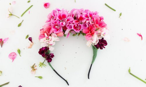 headband à fleurs fraîches