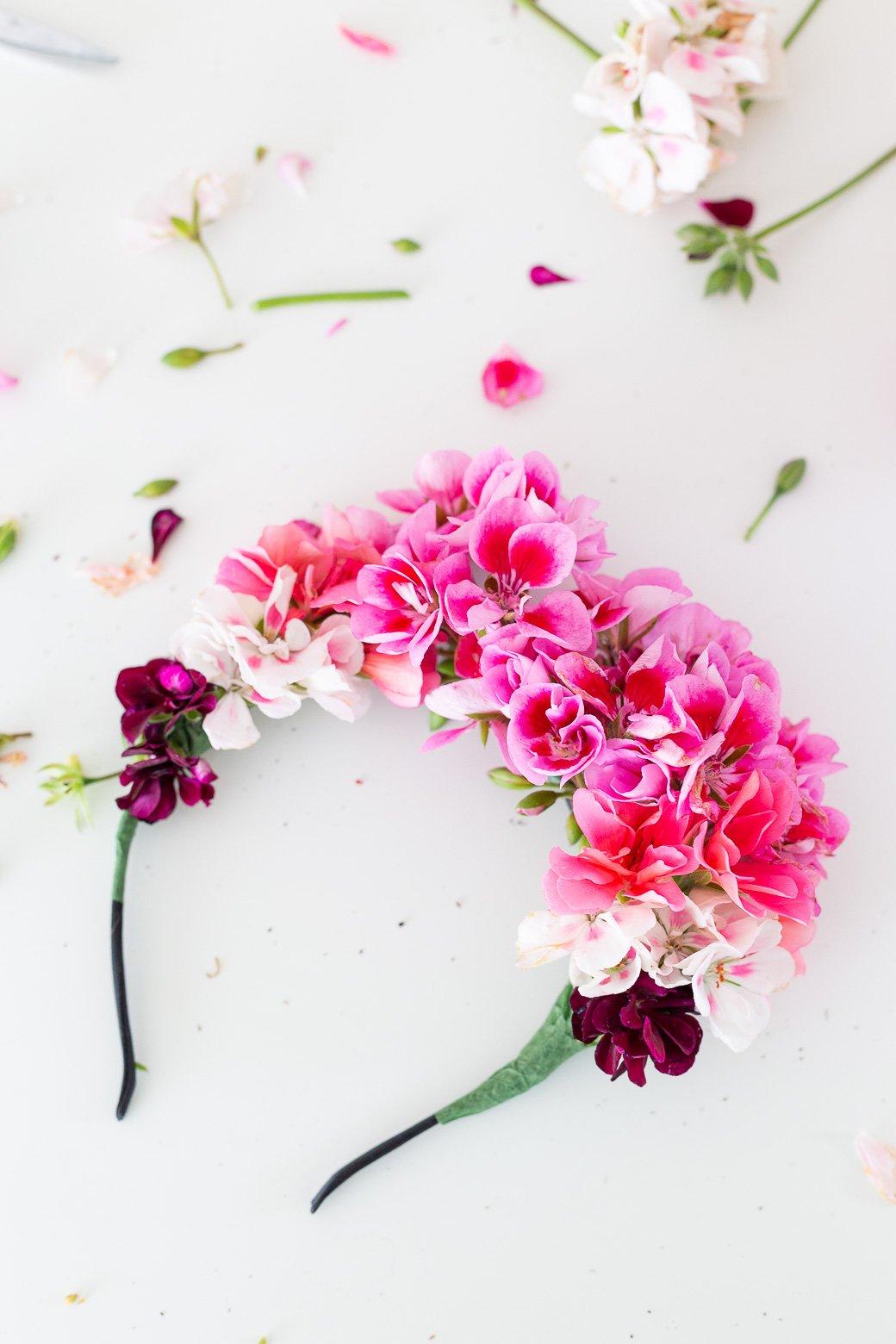 headband à fleurs diy