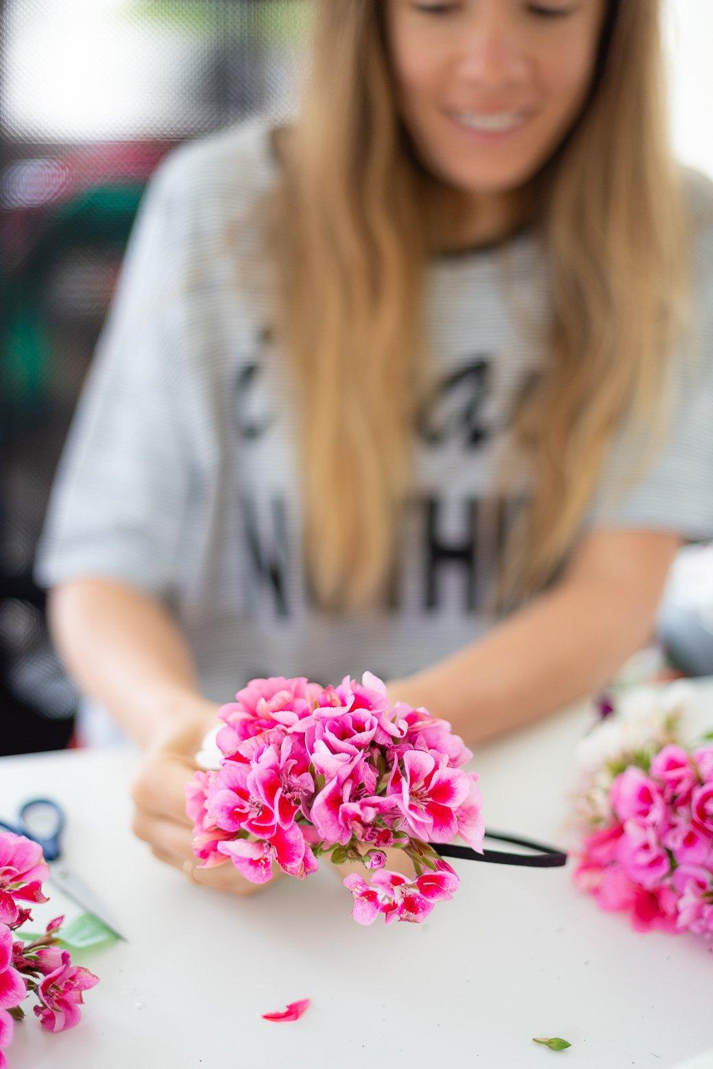 Comment faire couronne fleurs fraîches