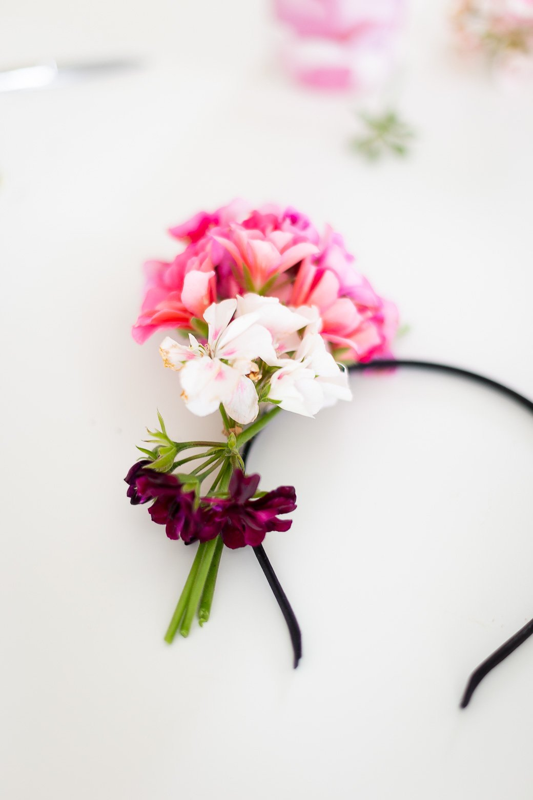 diy headband fleurs