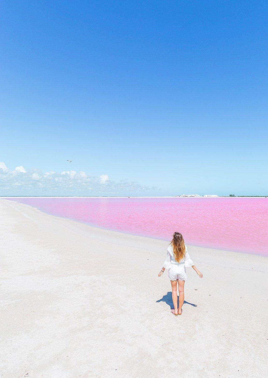 Mexique Lac Rose Yucatán