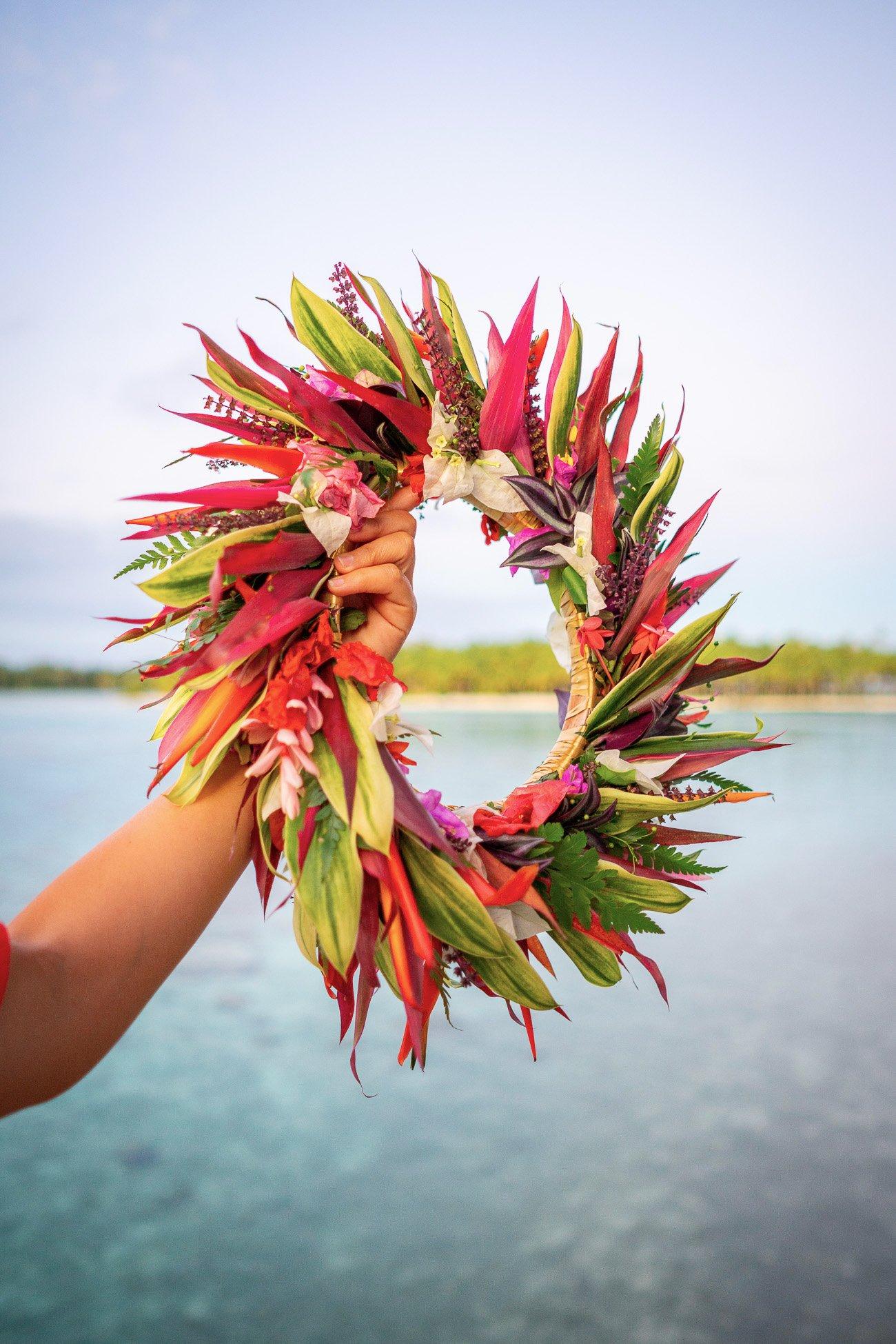 couronne fleurs tahiti