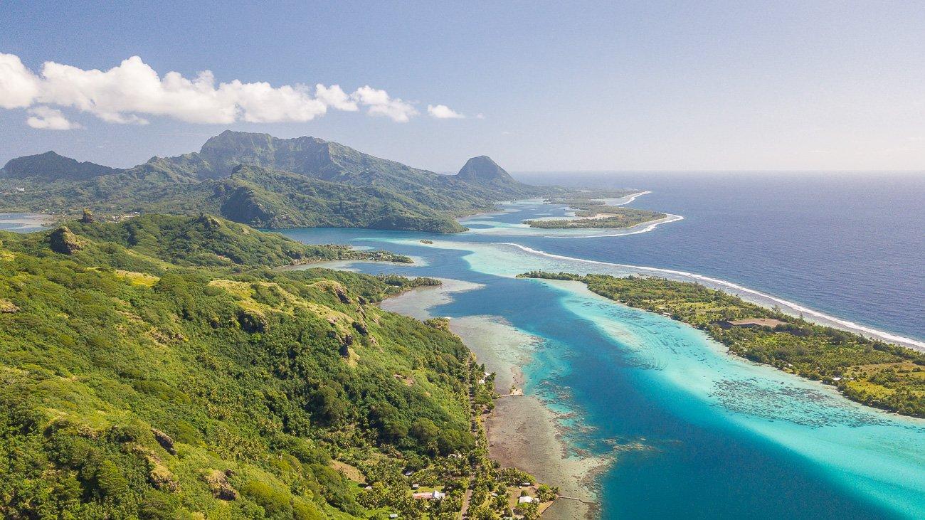 Huahine Polynésie Française île sauvage