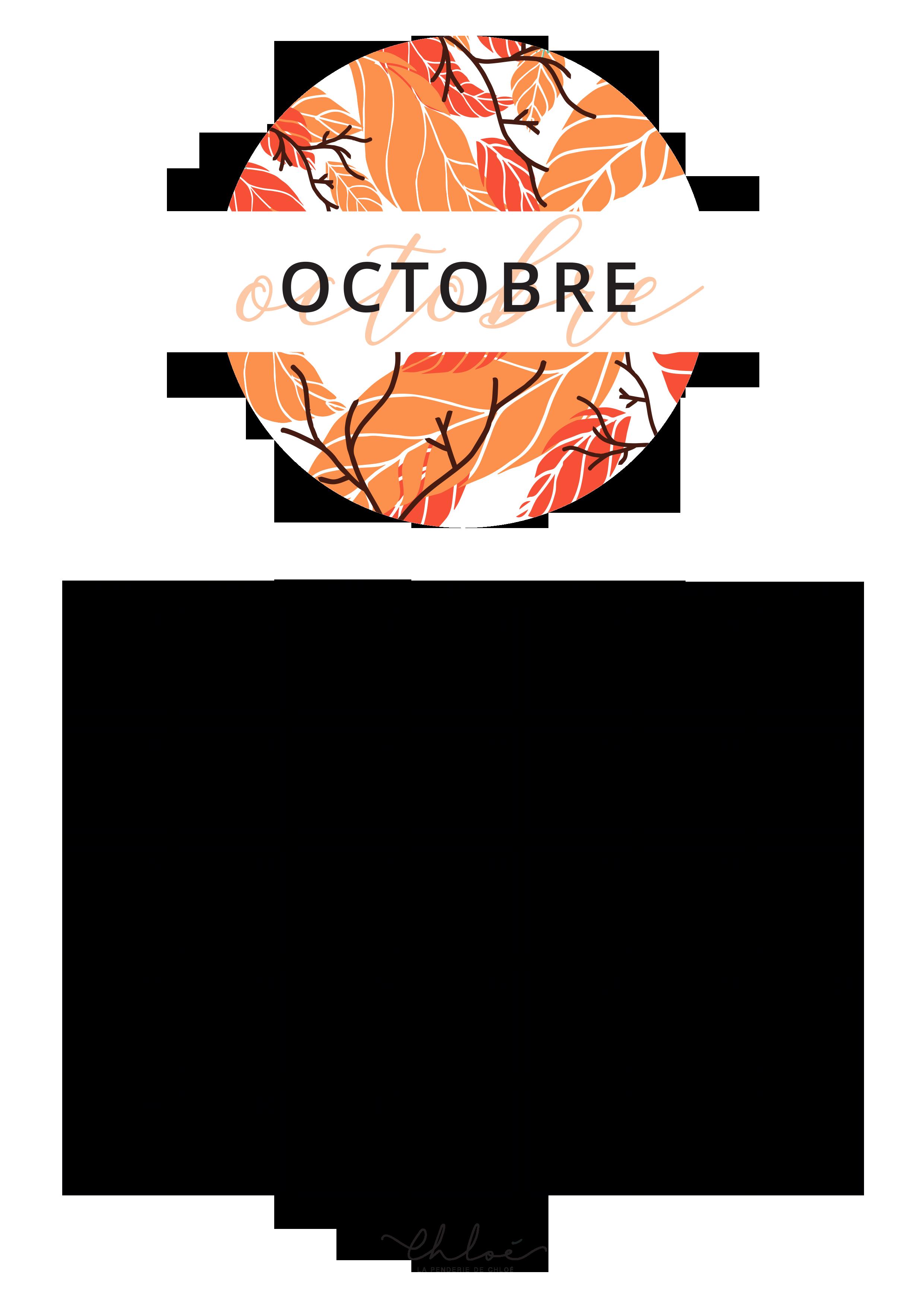 Calendrier Octobre