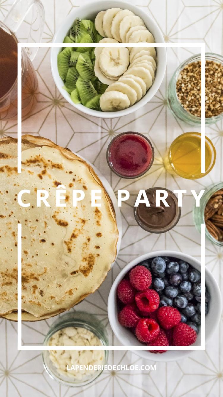 Recette Brunch crêpe party Pinterest