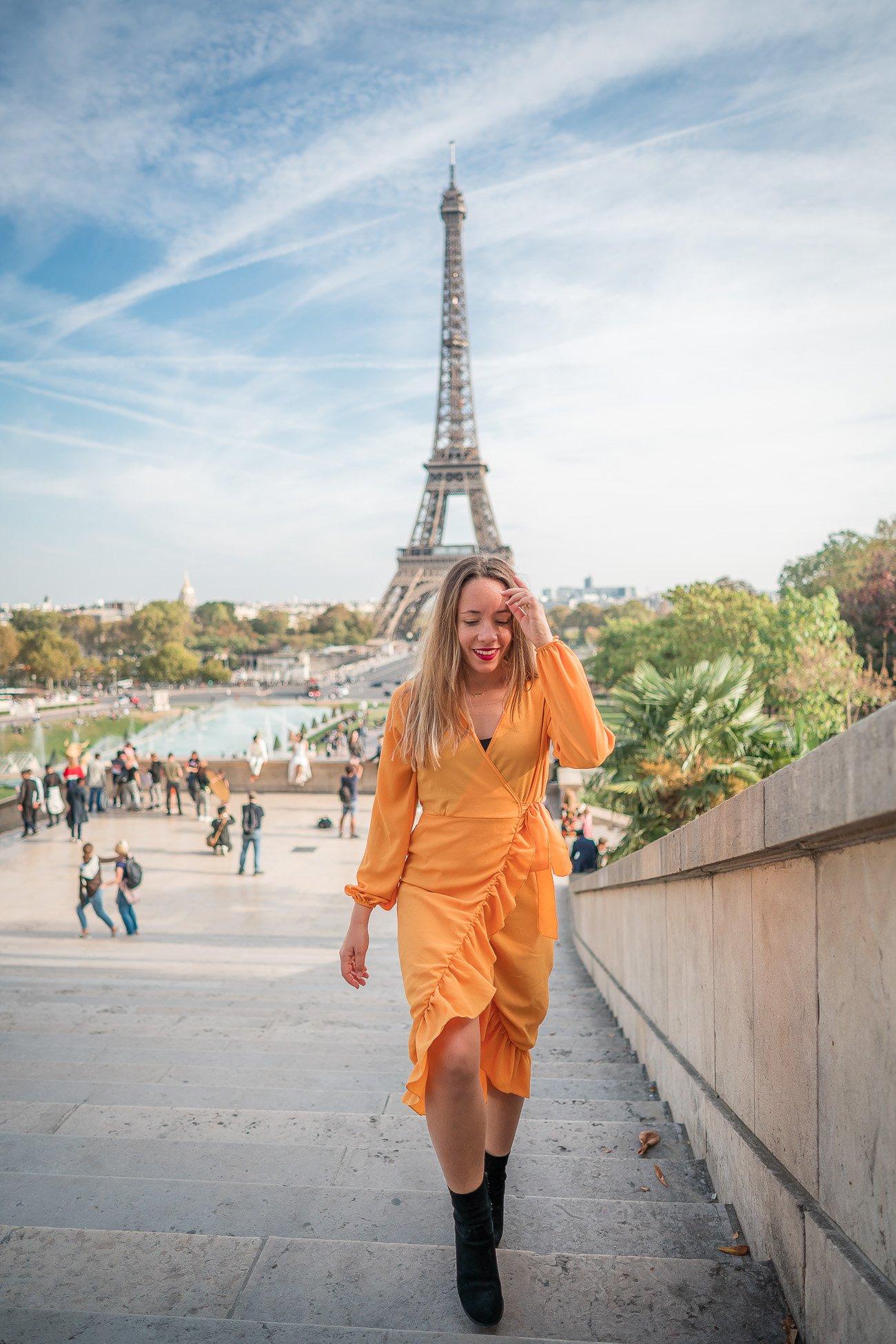 robe longue jaune petite