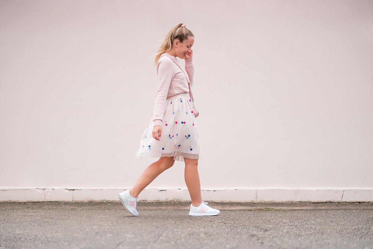 Tenue rose pastel sneakers