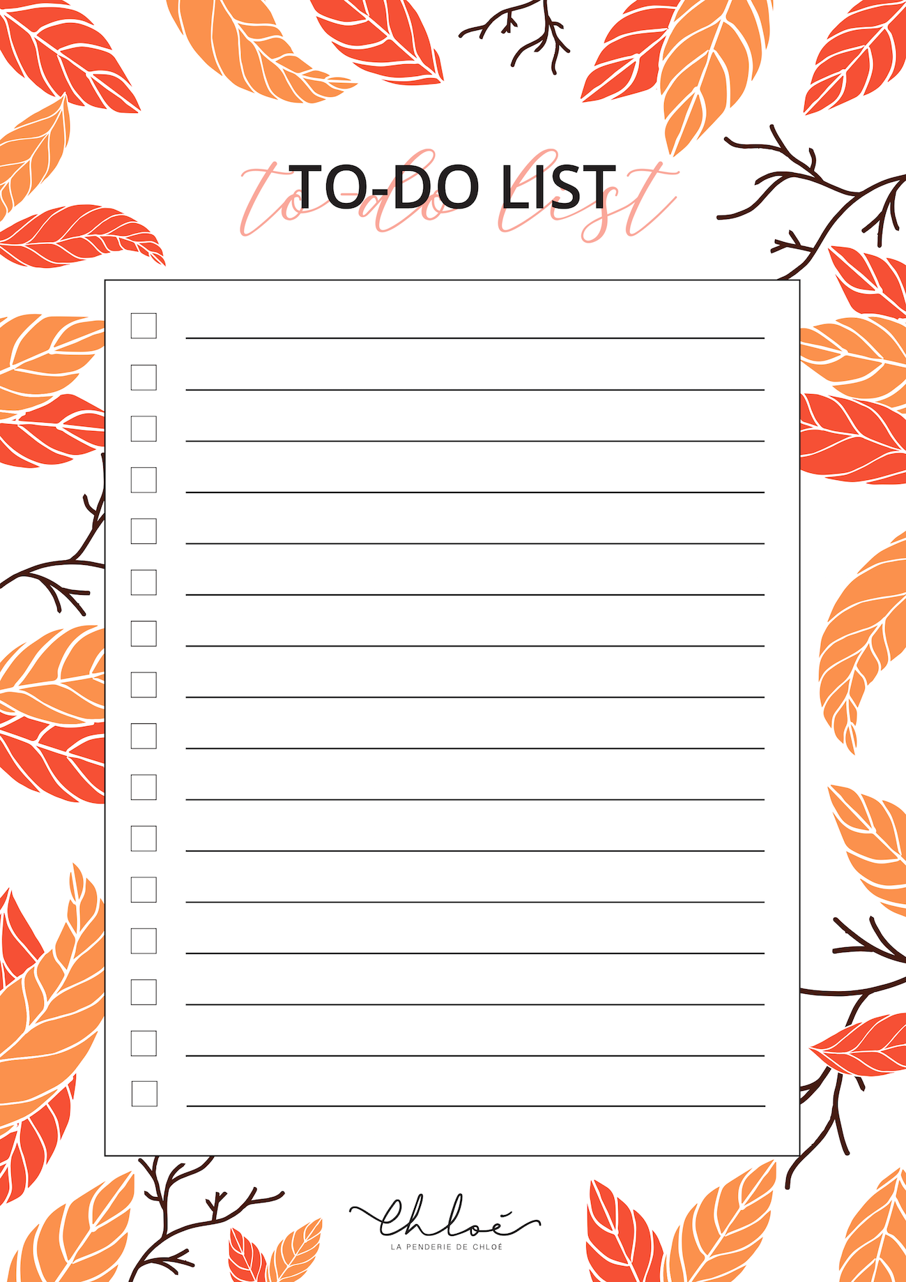 To Do Liste Automne