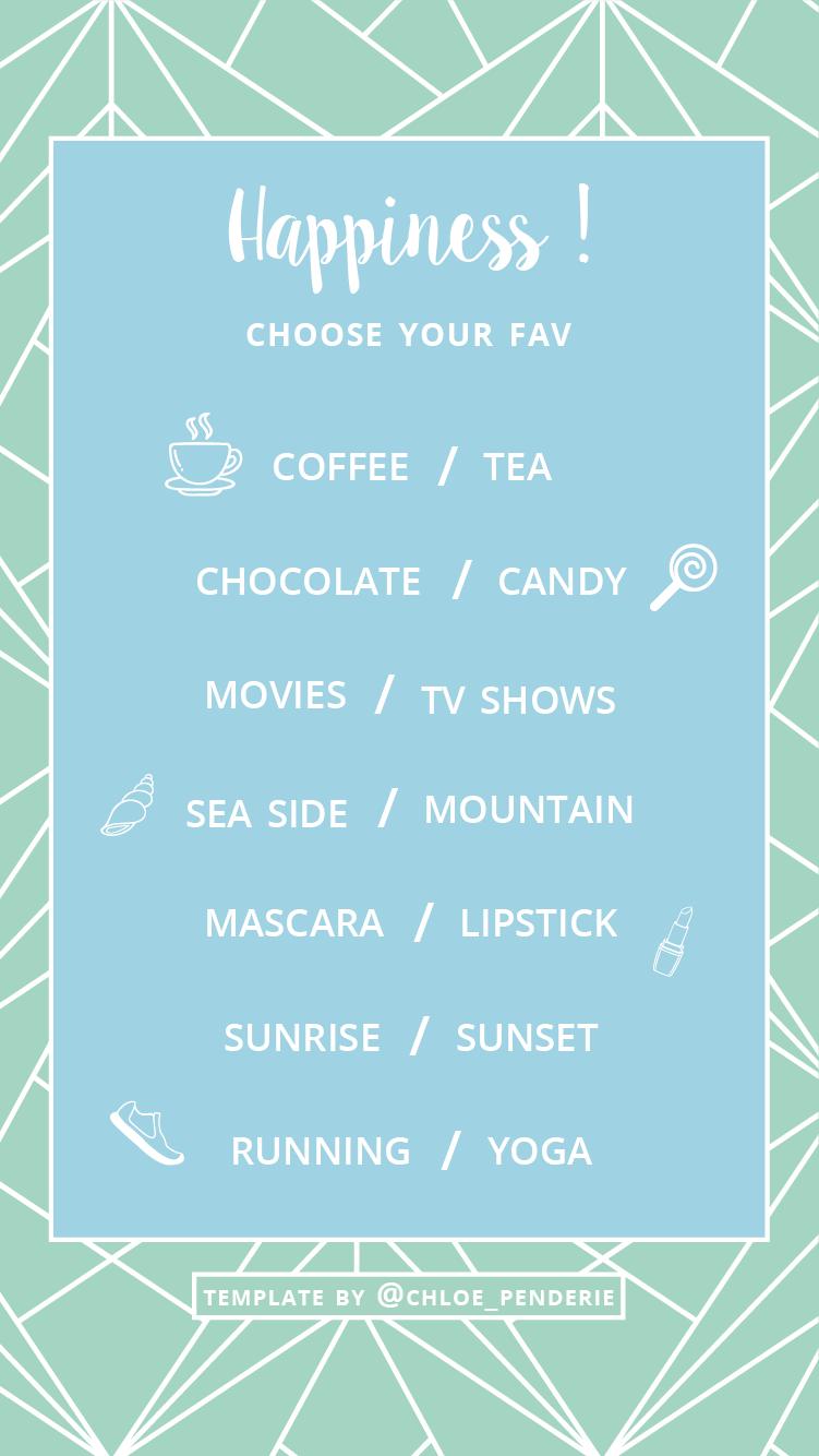template instagram stories choose your fav