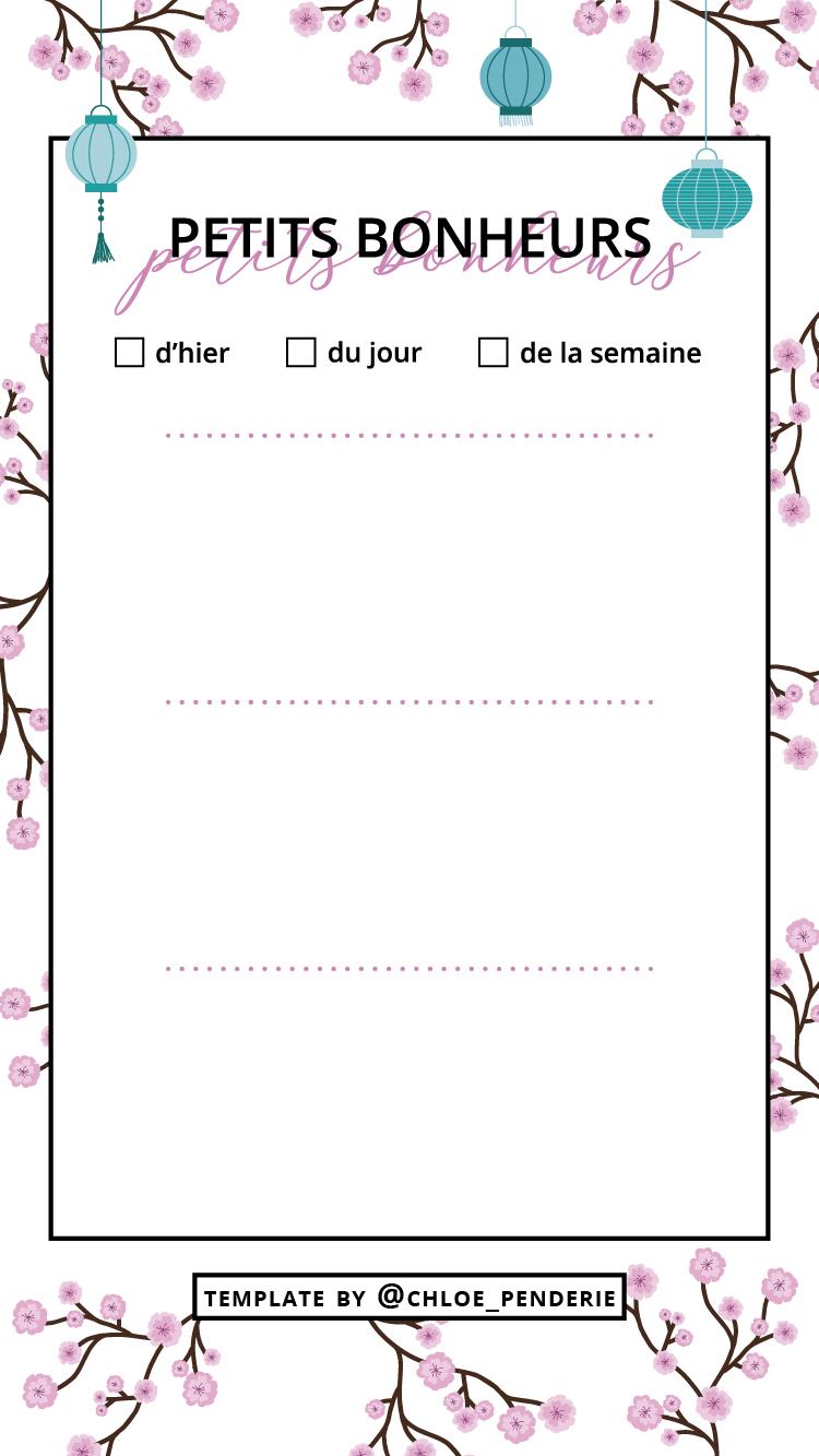 template instastories fleurs