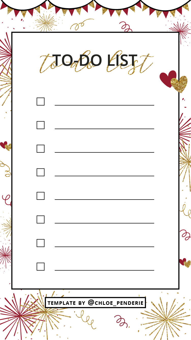 template instagram stories january