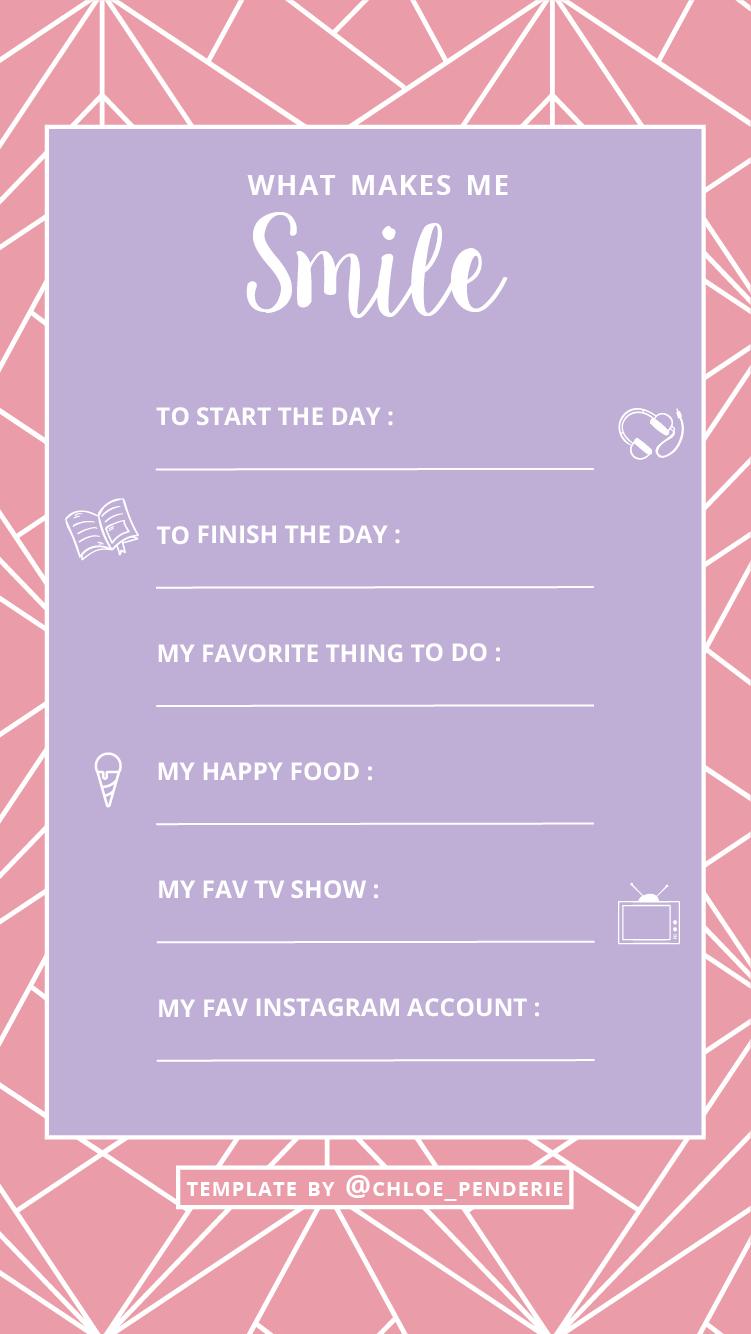 template instagram happy